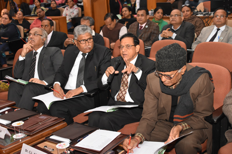 Jury during the M.Sc. students presentations at 56th Convocation