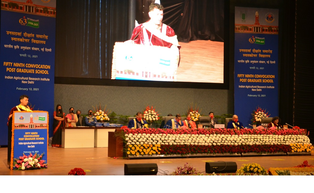 Hon'ble MoS Agriculture & Farmers Welfare delivering Convocation Address