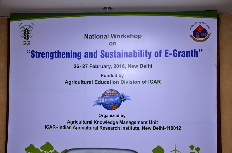 National workshop on 'Strengthening and Sustainability of E-Granth'