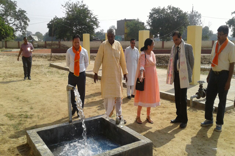 Inauguration of an ICAR-IARI technology based Eco-friendly Wastewater Treatment Facility at Pandit Deen Dayal Upadhyay Dham, Farah, Mathura by Honorable Union Minister of Agriculture & Farmers Welfare