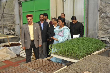 Visit of Hon'ble Minister of Agriculture, Government of Himachal Pradesh at CPCT, ICAR-IARI