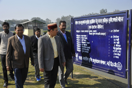 Visit of Hon'ble Minister of Agriculture, Government of Himachal Pradesh at IFS Model, ICAR-IARI