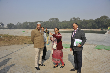 Sh. Gajendra Singh Shekhawat Ji Honourable MoS, MOAFW visiting Waste Water Treatment Plant