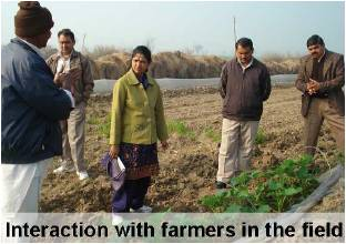 Interaction with farmers in the field