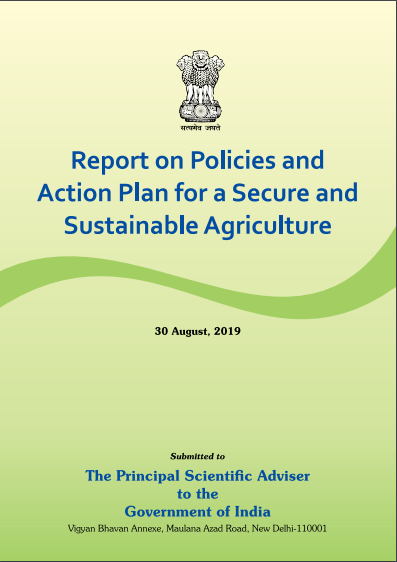 Report on Policies and Action Plan for a Secure and Sustainable Agriculture