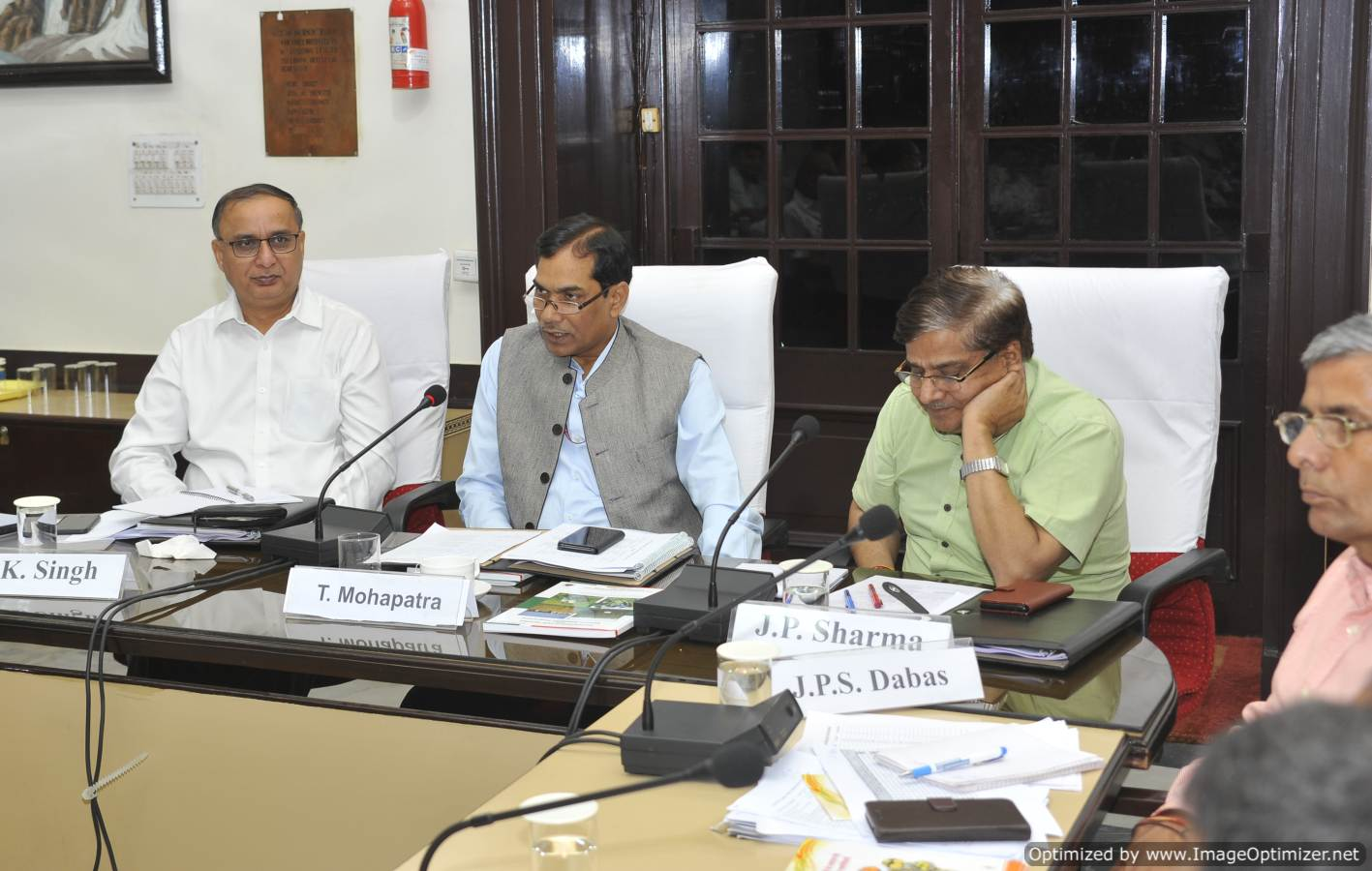 Dr. T. Mohapatra, Secretary DARE & DG, ICAR addressing the participants at IARI-NEP-VO workshop organized on 04.05.19 at IARI, Delhi